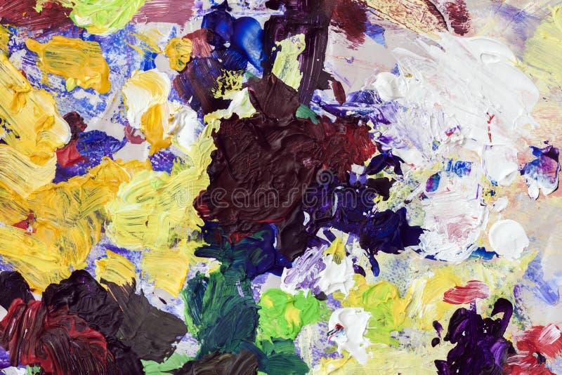 Stubarwni jaskrawi punkty kolory na mój palecie, tekstura dla nowożytnego kreatywnie tła zdjęcia royalty free