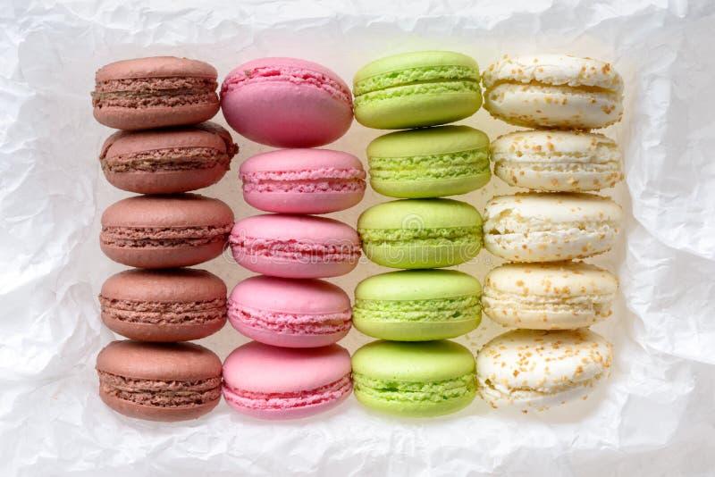 Stubarwni macarons zdjęcie stock