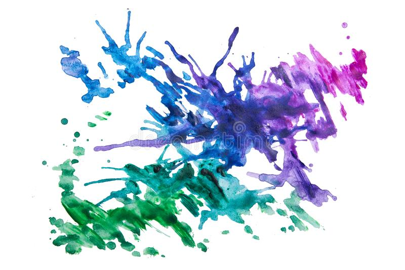 Stubarwni pluśnięcia farba obraz stock