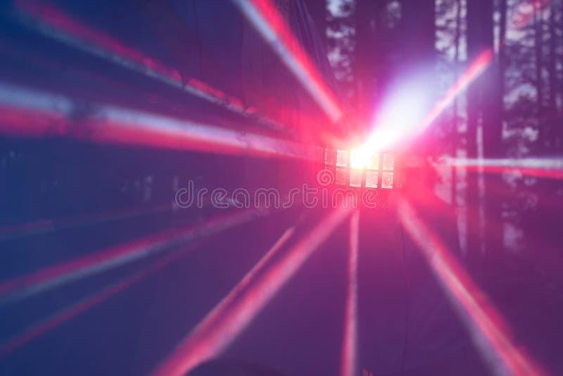 Stubarwni promienie światło obrazy stock