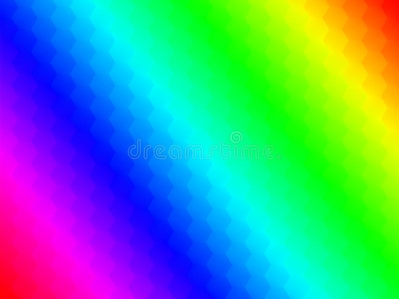 Stubarwni wieloboki z gładką zmianą kolory abstrakt g royalty ilustracja