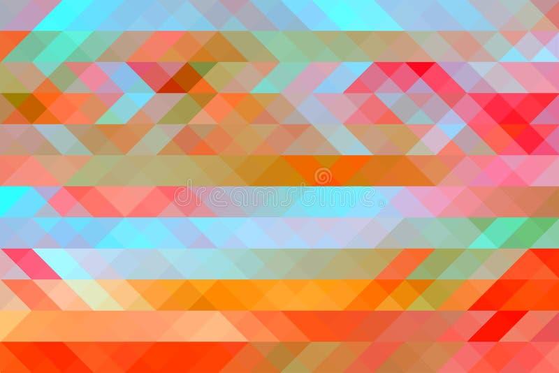 Stubarwny Abstrakcjonistyczny tło z mozaika skutkiem ilustracji