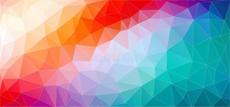 Stubarwny Abstrakcjonistyczny tło z gradientowymi trójboków kształtami ilustracji