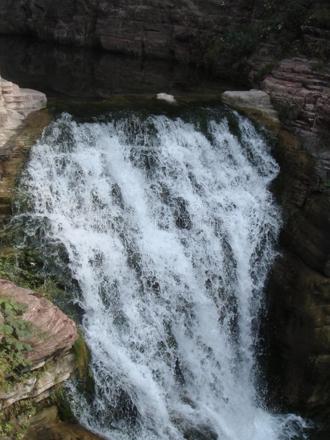 stubarwny basen w jiuzhai dolinie zdjęcia royalty free