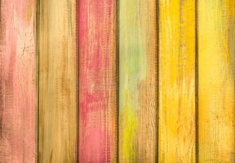 Stubarwny drewniany tło - rocznik tekstura fotografia royalty free