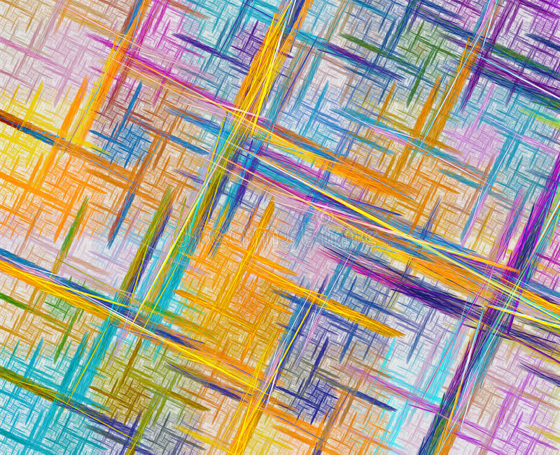 Stubarwny fractal z krzyżować liniami nad bielu plecy zdjęcia royalty free