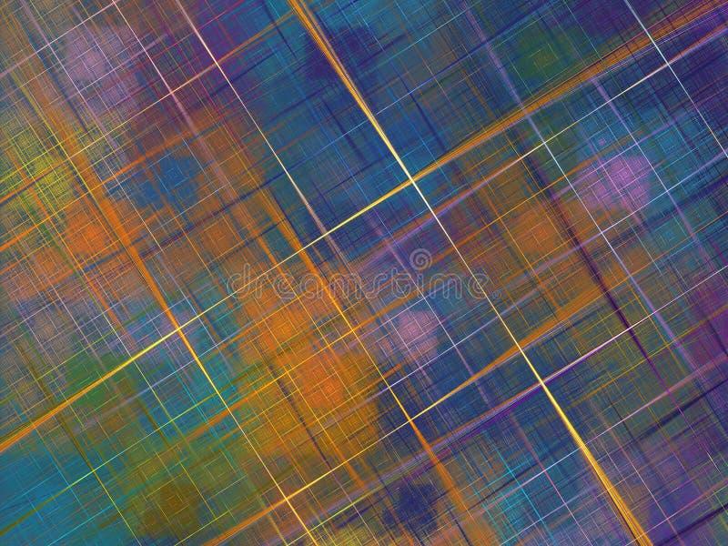 Stubarwny fractal z kwadratami i krzyżującym linii ove zdjęcie stock