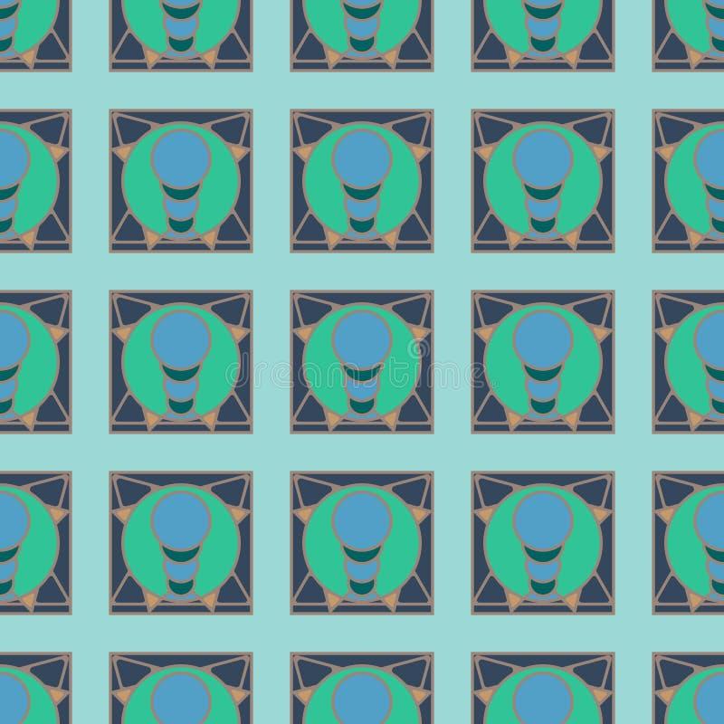 Stubarwny geometryczny bezszwowy wzór zdjęcie stock