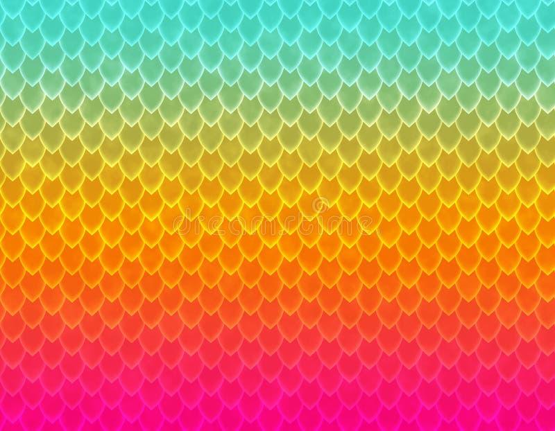 Stubarwny gradientowy wąż skóry wzór, ostrze skala royalty ilustracja