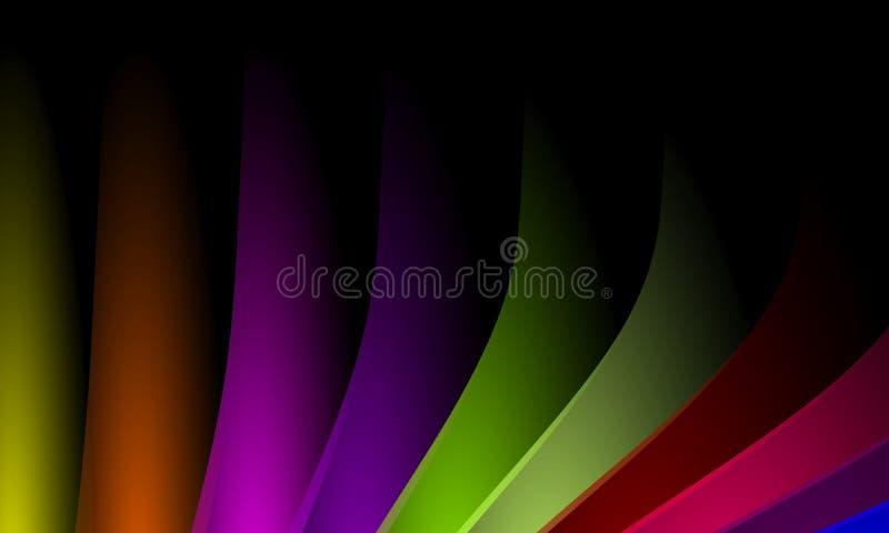 Stubarwny kolor fali abstrakcji projekta szablon Ilustracja, krzywa ilustracja wektor
