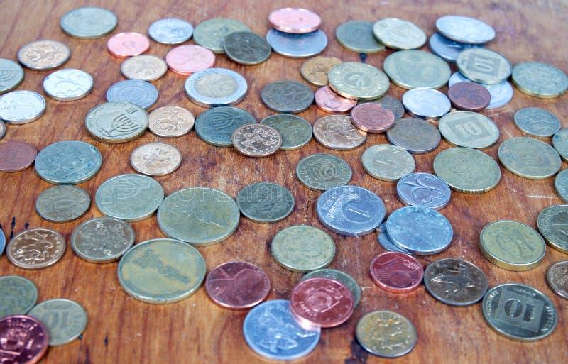 Stubarwny monety tło zdjęcie royalty free