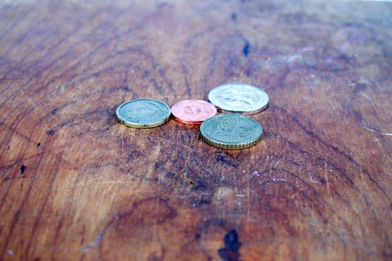Stubarwny monety tło obraz royalty free