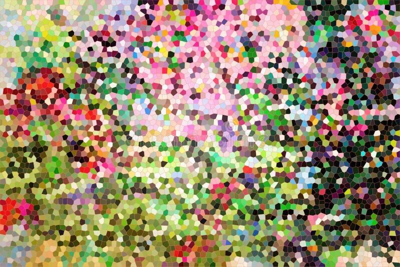 Stubarwny mozaiki tło, jaskrawy kolorowy abstrakt gradien royalty ilustracja