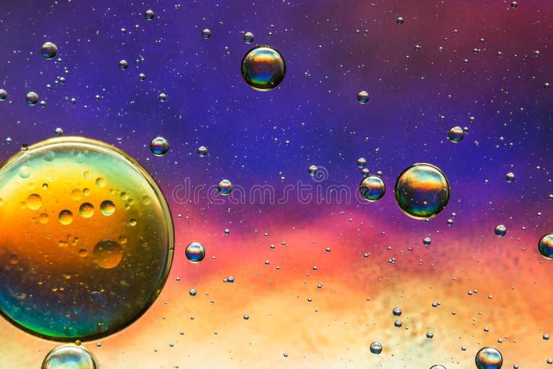 Stubarwny oleju i wody abstrakt zdjęcia royalty free