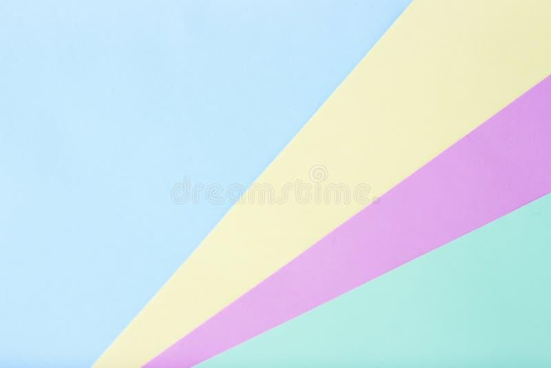 Stubarwny papier pastelowi kolory, tekstura, tło, geometryczna abstrakcja fotografia stock