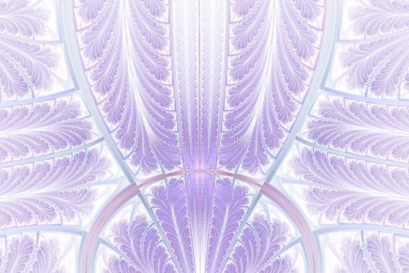 Stubarwny symetryczny fractal wzór jak ornament Fractal sztuka ilustracji