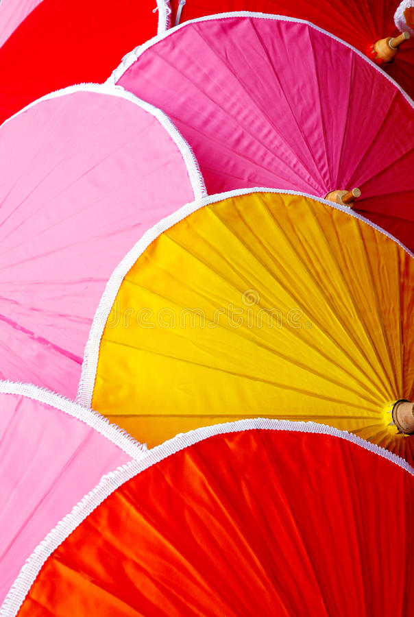 Stubarwny Tajlandzki sunshade gacenie zdjęcia stock