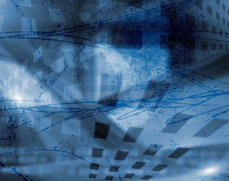 Stubarwny wielostrzałowy geometryczny wzór w jaskrawym błękitnym kolorze dla projekta ilustracji