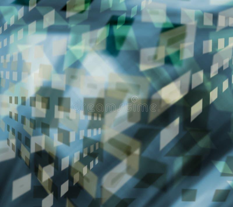Stubarwny wielostrzałowy geometryczny wzór w jaskrawym błękitnym kolorze dla projekta royalty ilustracja