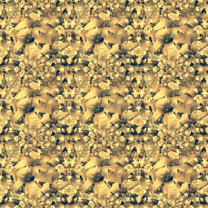 Stubarwnych Kwiecistych zawijasów Dekoracyjny tło royalty ilustracja