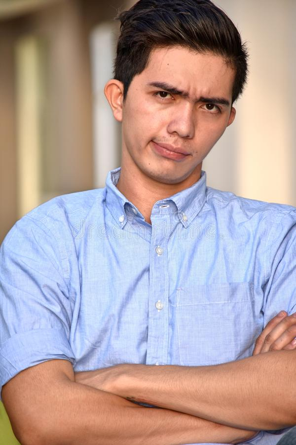 A Stubborn Filipino Person. A Stubborn and Filipino Person royalty free stock photos