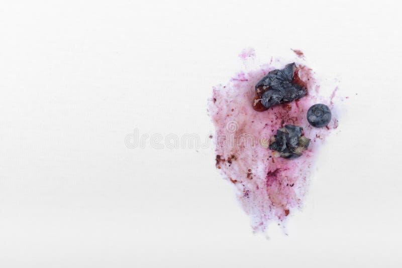 Stubborn stain. On white textile stock photography