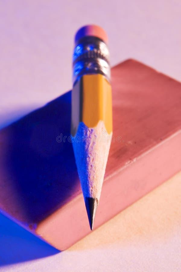 Stubbs der überarbeitete Bleistift stockfoto