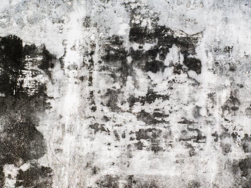 Stucco in bianco e nero di immagine di sfondo, stucco in bianco e nero in bianco e nero/astratto del cemento della carta da parat fotografia stock libera da diritti