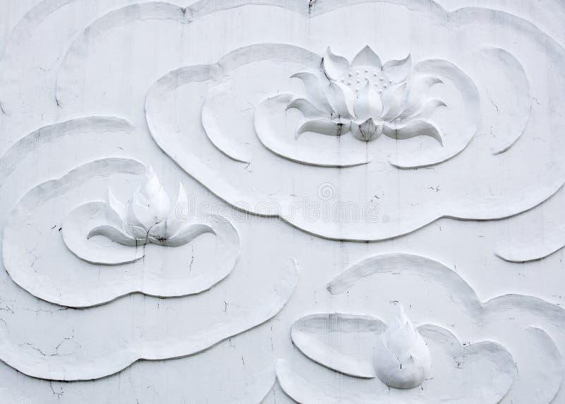 stucco del loto bianco fotografia stock