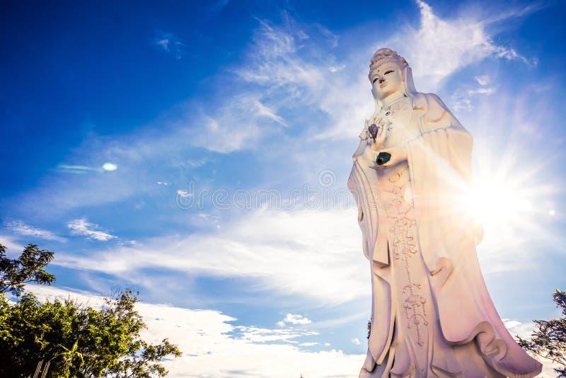 Stucco di Guanyin il sole fotografia stock libera da diritti