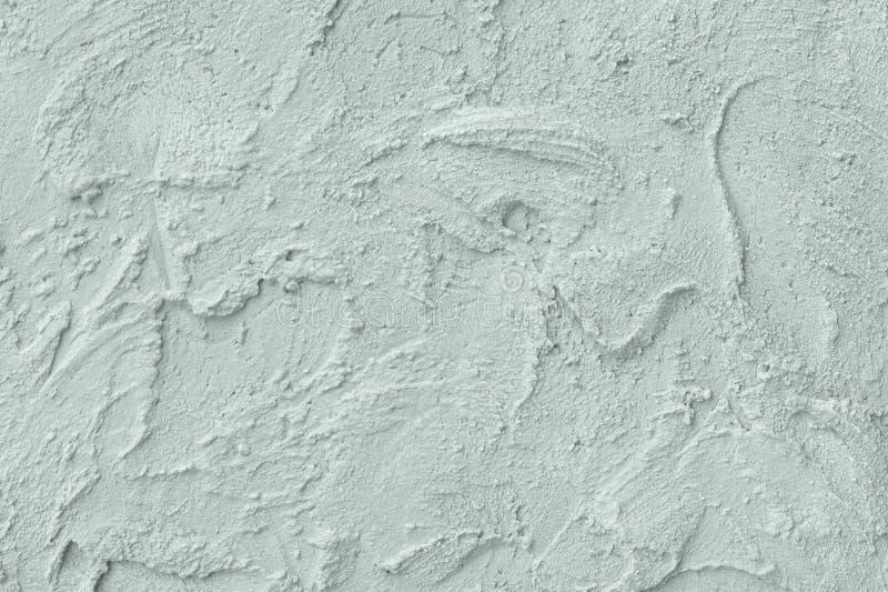 Stucco di sollievo sulla parete Colore della menta Fine in su fotografia stock libera da diritti
