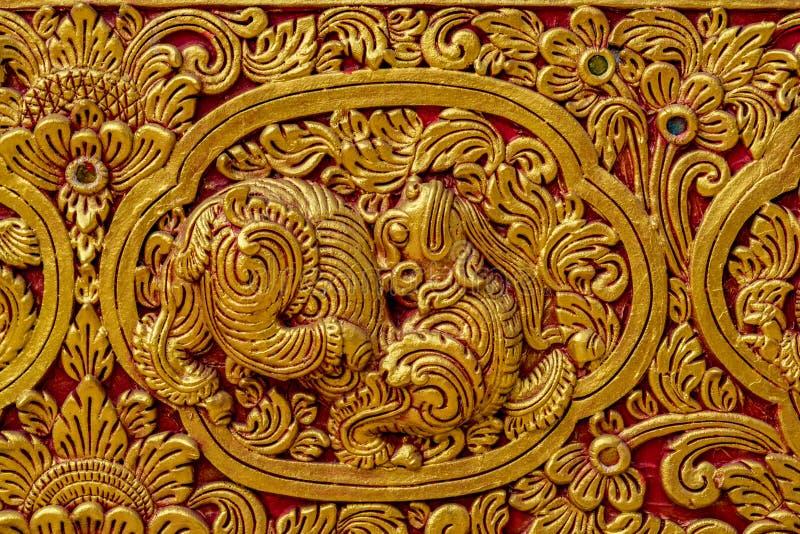 Stucco dorato tailandese immagine stock libera da diritti