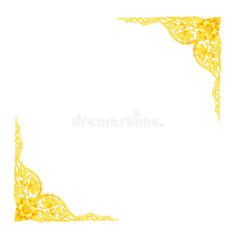 Stucco golden sculpture decorative pattern wall design royalty free stock photos