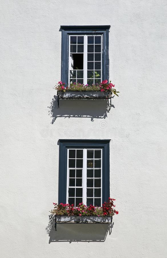 Stucco house facade stock image