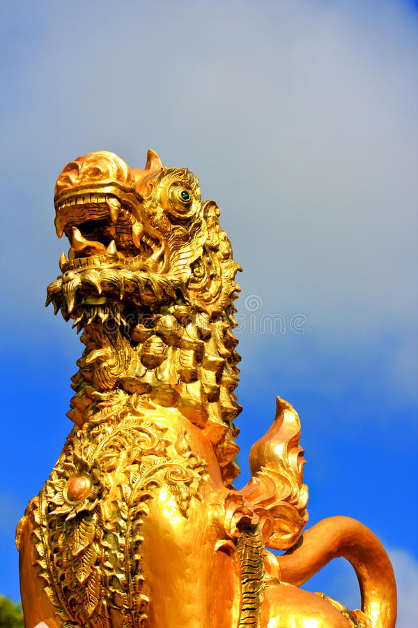 Stucco The Lion Royalty Free Stock Photo