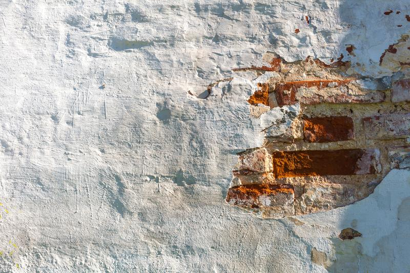 Stucco white wall background or texture royalty free stock photo