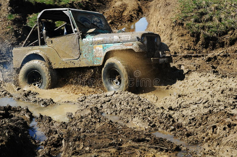 Stuck off-road car royalty free stock images
