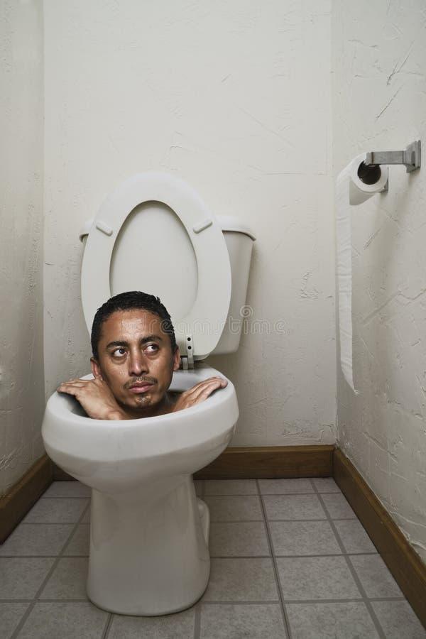 Stuck On The Toilet Royalty Free Stock Photos
