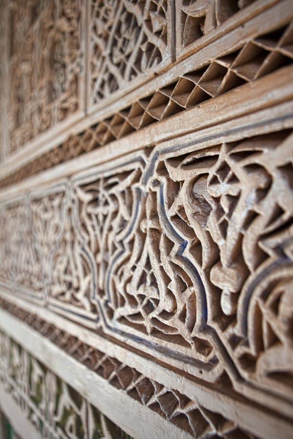 Stuck Und Steinmetzarbeit, Marokko Lizenzfreies Stockbild