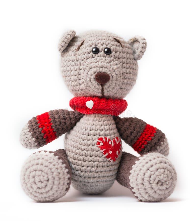Stucken leksak - lite björn royaltyfri foto
