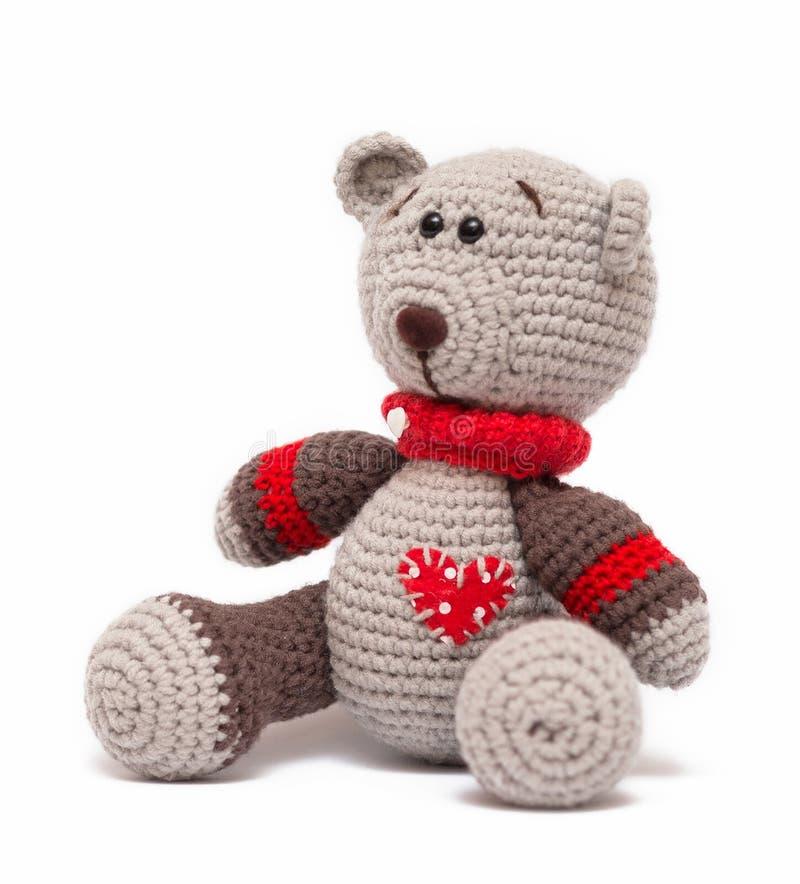 Stucken leksak - lite björn royaltyfria bilder