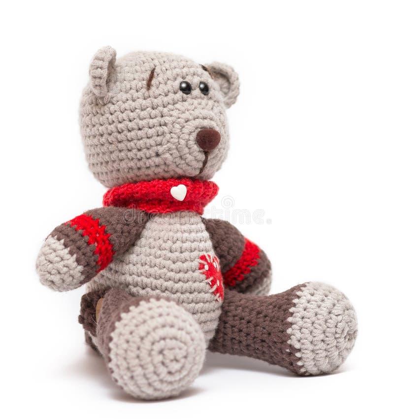 Stucken leksak - lite björn fotografering för bildbyråer