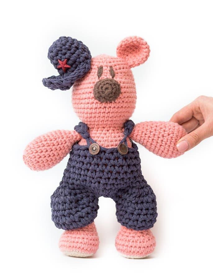 Stucken leksak - lite björn royaltyfria foton