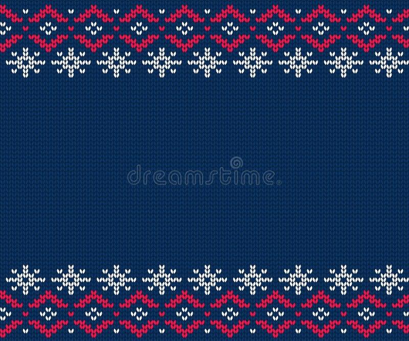 Stucken modell för tröja seamless vinter för bakgrund royaltyfri illustrationer