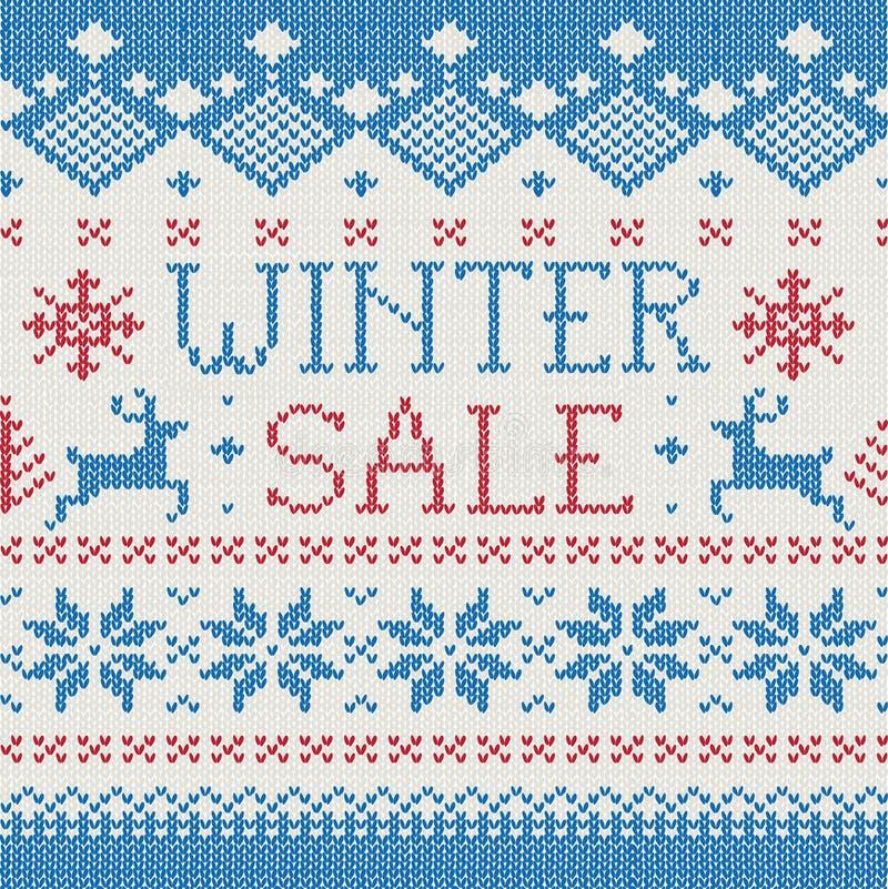 stucken scandinavian vinter för modellförsäljning stock illustrationer