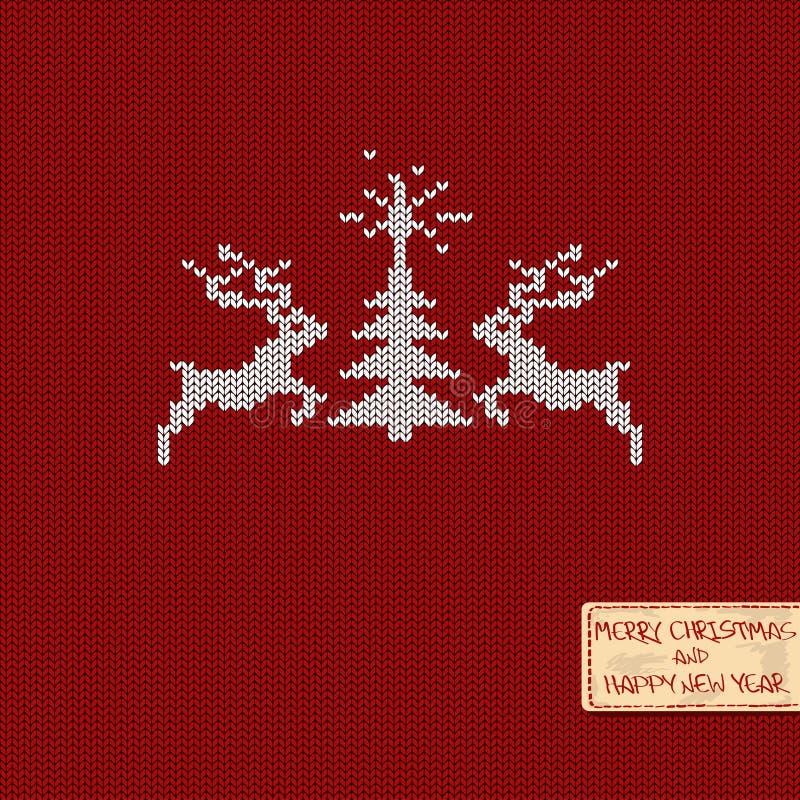 Stuckit modellkort för jul och för nytt år vektor illustrationer
