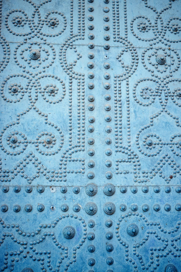 Studded door stock photography