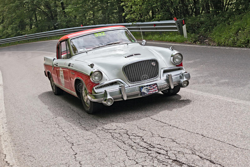 Studebaker Golden Hawk in Mille Miglia 2013 royalty free stock image