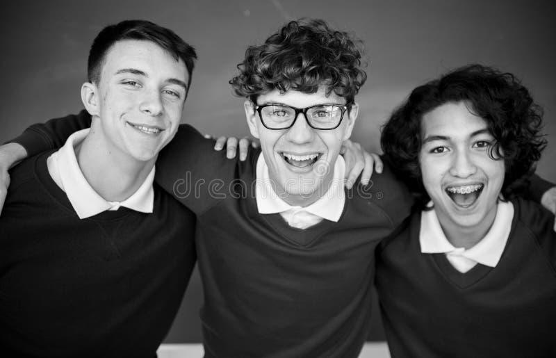 Studenccy edukaci szkoły naukowa przyjaciele fotografia royalty free