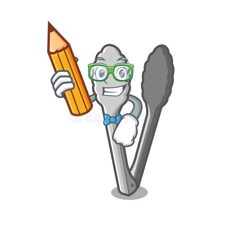 Studenccy tongs w kreskówka kształcie ilustracja wektor